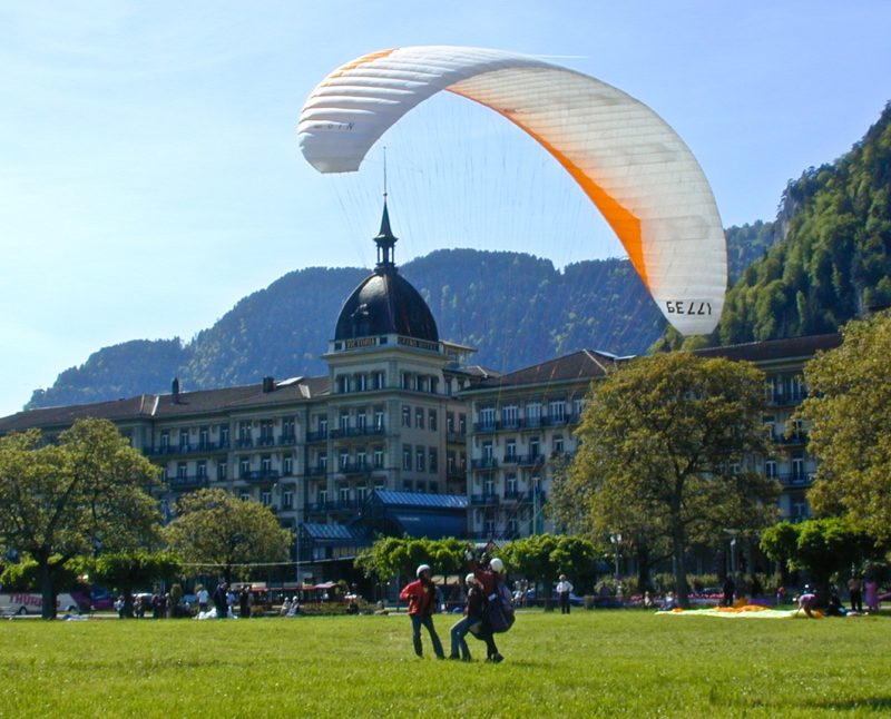 Handpicked Hotel Victoria Jungfrau Interlaken paragliding